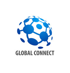 global connection logo concept design template vector image