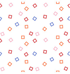 graphic color squares abstract background design vector image