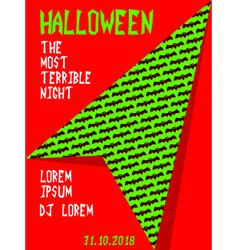 Halloween party invitation scary poster vector
