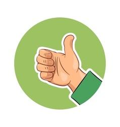 Hand gesture ok vector image