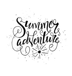 handdrawn summer quote vector image