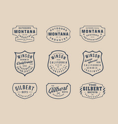 Handmade vintage logo insignia badges bundle 2 vector