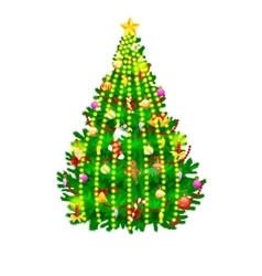 holiday christmas tree isolated decoration for vector image