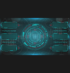 hud ui futuristic and infographic elements vector image