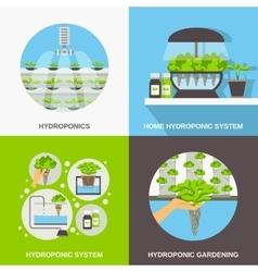 Hydroponics Flat Concept vector image