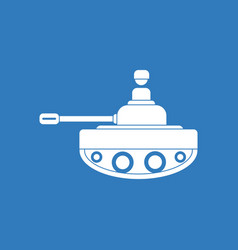 Icon soldier on tank vector