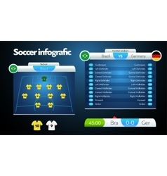 Info graphic football field statistics vector