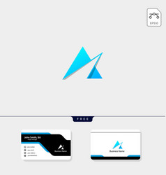 initial a logo template and logo inspiration free vector image