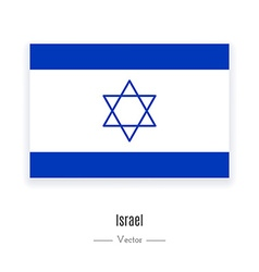 Israel Flag Icon vector image