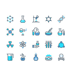 laboratory equipment line icon chemical reaction vector image