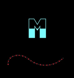 letter M-01 vector image