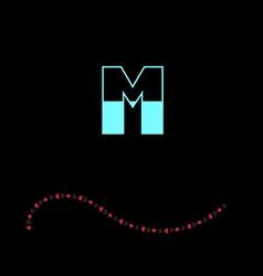 letter M-01 vector image