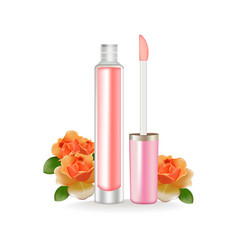 Lip gloss realistic 3d package beauty vector