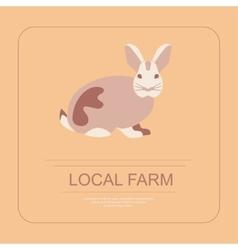Logotype local farm vector