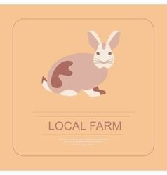 Logotype of local farm vector