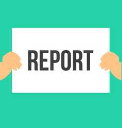 man showing paper report text vector image
