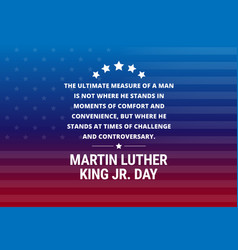Martin luther king jr day holiday background vector