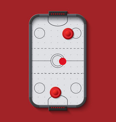 modern air hockey table vector image