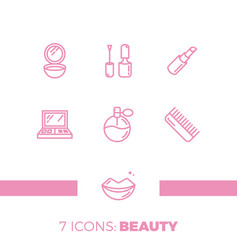 modern icons set cosmetics beauty spa and vector image