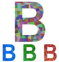 Mosaic font design - letter B vector