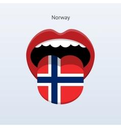 Norway language abstract human tongue vector