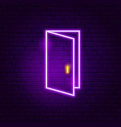 open door neon sign vector image