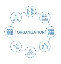 Organization icons vector