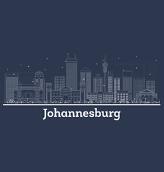 Outline johannesburg south africa city skyline vector