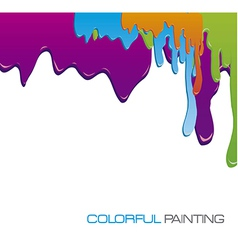 paint dripping vector image