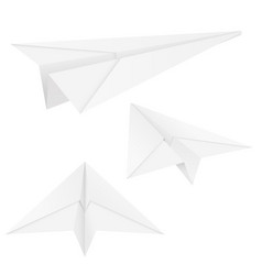 paper airplanes folded glides vector image