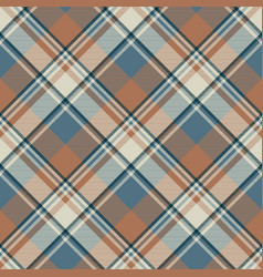 Pastel color classic beige plaid seamless fabric vector