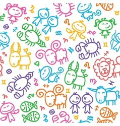 pattern with zodiac vector image