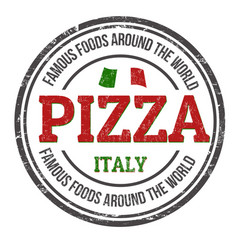 pizza sign or stamp vector image