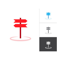 road signs blank isolated icon plate road signs vector image