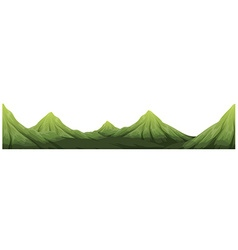 Seamless green mountain range vector image