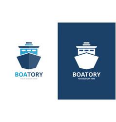 ship logo combination boat symbol or icon vector image