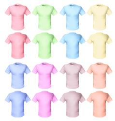 shirts pale tones vector image