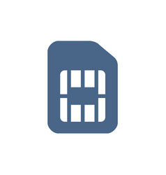 Sim card flat icon mobile slot phone chip symbol vector