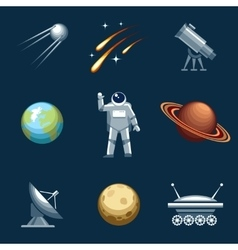 Space and astronomy set vector image