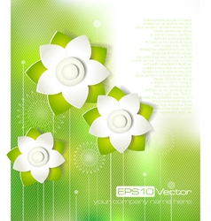 Spring cutout flower design vector image
