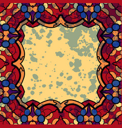 Square frame stylized ornate colorfu vector