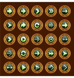 Steam punk arrow buttons vector