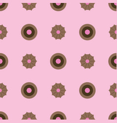 sweets and cookies pattern seamless flat vector image