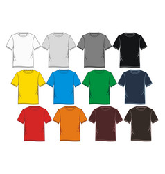 T shirt templates vector