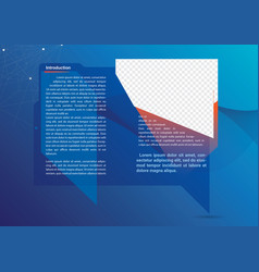 technology brochure vector image