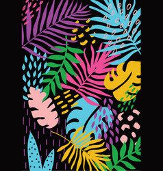 Tropic cards vector