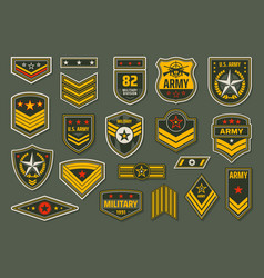 usa armed forces badges military ranks insignia vector image