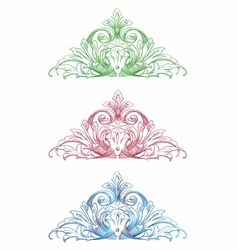 Vintage Ornamental Floral Set vector image