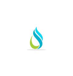 Water wave droplet logo vector