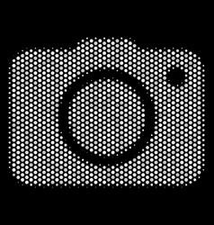 white halftone photo camera icon vector image